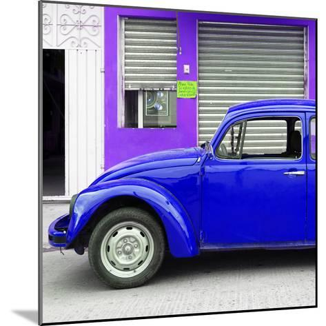 ¡Viva Mexico! Square Collection - Royal Blue VW Beetle and Purple Facade-Philippe Hugonnard-Mounted Photographic Print