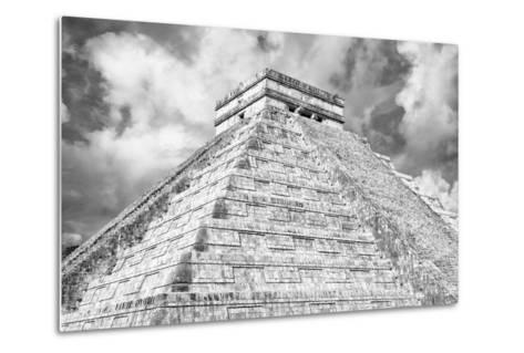 ?Viva Mexico! B&W Collection - Chichen Itza Pyramid XIV-Philippe Hugonnard-Metal Print