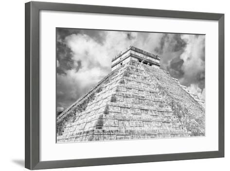 ?Viva Mexico! B&W Collection - Chichen Itza Pyramid XIV-Philippe Hugonnard-Framed Art Print