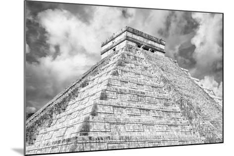 ?Viva Mexico! B&W Collection - Chichen Itza Pyramid XIV-Philippe Hugonnard-Mounted Photographic Print