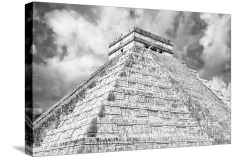 ?Viva Mexico! B&W Collection - Chichen Itza Pyramid XIV-Philippe Hugonnard-Stretched Canvas Print