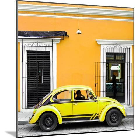 ¡Viva Mexico! Square Collection - VW Beetle Car - Gold & Yellow-Philippe Hugonnard-Mounted Photographic Print