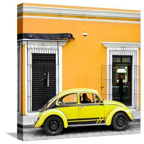 ¡Viva Mexico! Square Collection - VW Beetle Car - Gold & Yellow-Philippe Hugonnard-Stretched Canvas Print