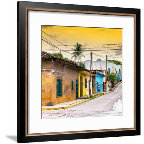 ¡Viva Mexico! Square Collection - Colorful Mexican Street at Sunset II-Philippe Hugonnard-Framed Art Print