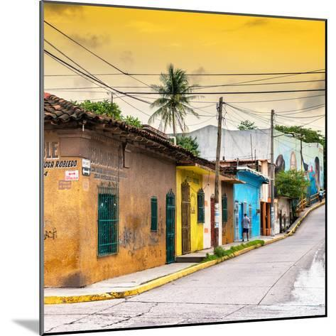¡Viva Mexico! Square Collection - Colorful Mexican Street at Sunset II-Philippe Hugonnard-Mounted Photographic Print