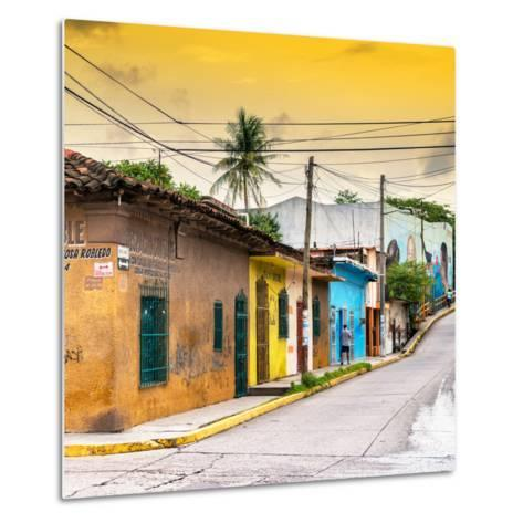 ¡Viva Mexico! Square Collection - Colorful Mexican Street at Sunset II-Philippe Hugonnard-Metal Print