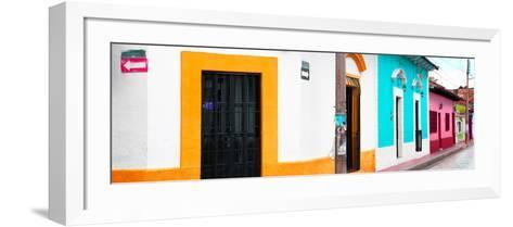¡Viva Mexico! Panoramic Collection - Colorful Street III-Philippe Hugonnard-Framed Art Print