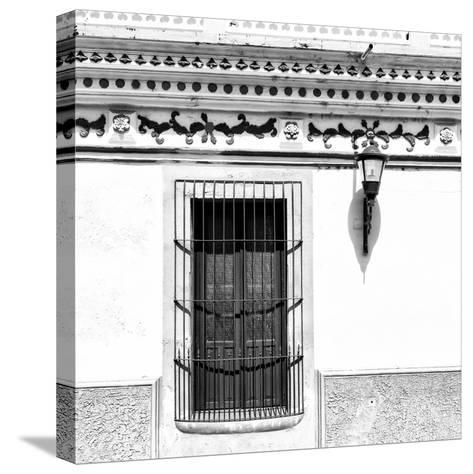 ¡Viva Mexico! Square Collection - B&W Facade-Philippe Hugonnard-Stretched Canvas Print