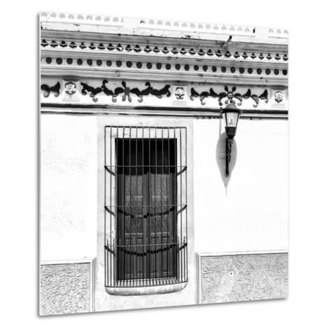 ¡Viva Mexico! Square Collection - B&W Facade-Philippe Hugonnard-Metal Print