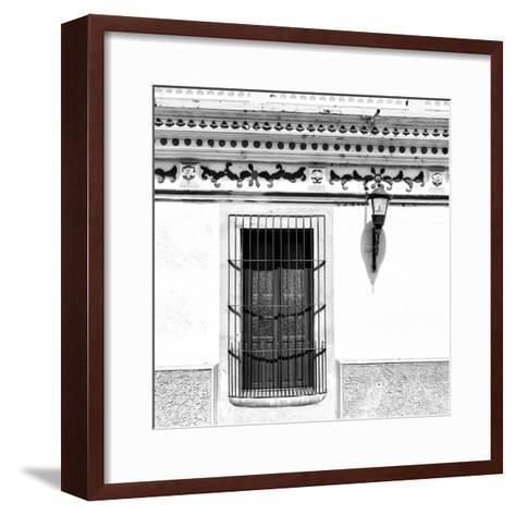 ¡Viva Mexico! Square Collection - B&W Facade-Philippe Hugonnard-Framed Art Print