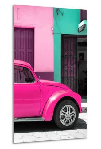 ?Viva Mexico! Collection - The Deep Pink Beetle-Philippe Hugonnard-Metal Print