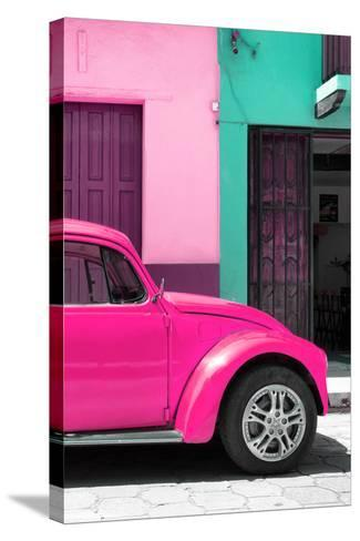 ?Viva Mexico! Collection - The Deep Pink Beetle-Philippe Hugonnard-Stretched Canvas Print
