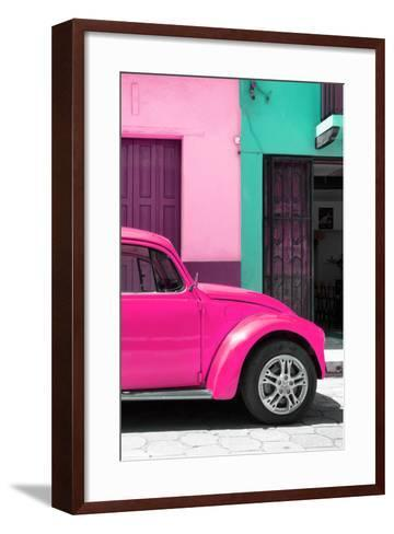 ?Viva Mexico! Collection - The Deep Pink Beetle-Philippe Hugonnard-Framed Art Print