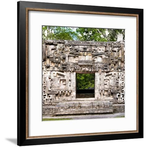 ¡Viva Mexico! Square Collection - Hochob Mayan Pyramids of Campeche-Philippe Hugonnard-Framed Art Print
