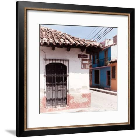 "¡Viva Mexico! Square Collection - ""ALTO"" San Cristobal III-Philippe Hugonnard-Framed Art Print"