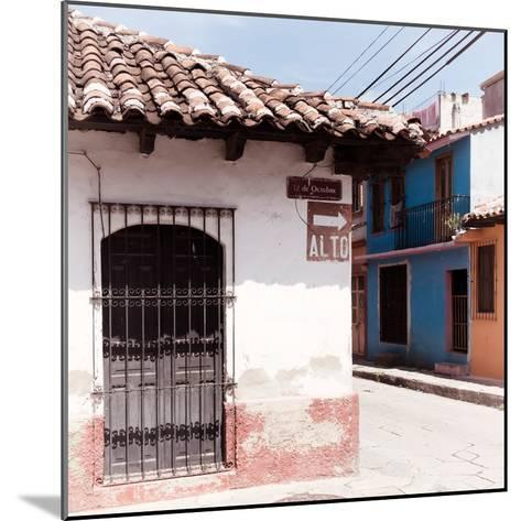 "¡Viva Mexico! Square Collection - ""ALTO"" San Cristobal III-Philippe Hugonnard-Mounted Photographic Print"
