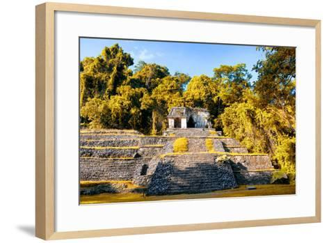 ¡Viva Mexico! Collection - Mayan Ruins with Fall Colors in Palenque-Philippe Hugonnard-Framed Art Print