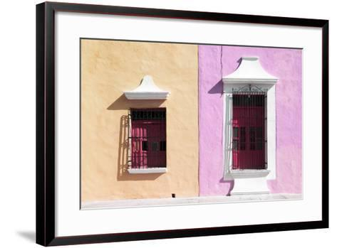 ¡Viva Mexico! Collection - Colors Houses in Campeche IV-Philippe Hugonnard-Framed Art Print