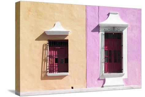 ¡Viva Mexico! Collection - Colors Houses in Campeche IV-Philippe Hugonnard-Stretched Canvas Print