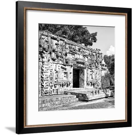 ¡Viva Mexico! Square Collection - Hochob Mayan Pyramids of Campeche V-Philippe Hugonnard-Framed Art Print