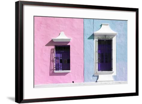 ¡Viva Mexico! Collection - Colors Houses in Campeche V-Philippe Hugonnard-Framed Art Print