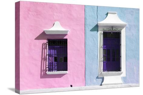 ¡Viva Mexico! Collection - Colors Houses in Campeche V-Philippe Hugonnard-Stretched Canvas Print