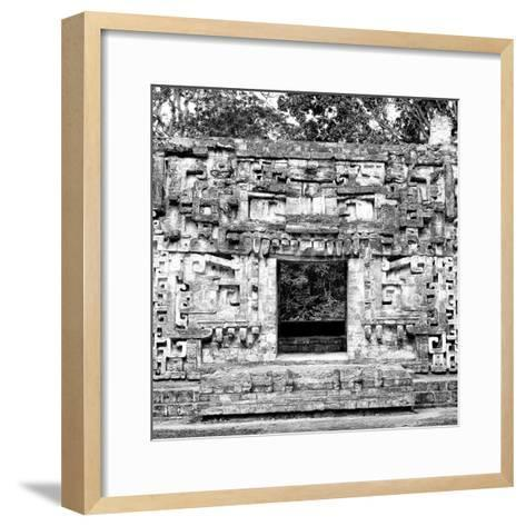¡Viva Mexico! Square Collection - Hochob Mayan Pyramids of Campeche III-Philippe Hugonnard-Framed Art Print
