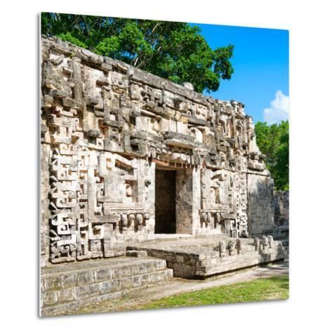 ¡Viva Mexico! Square Collection - Hochob Mayan Pyramids of Campeche IV-Philippe Hugonnard-Metal Print