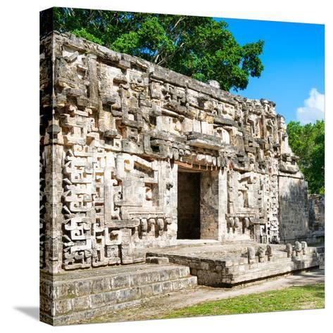 ¡Viva Mexico! Square Collection - Hochob Mayan Pyramids of Campeche IV-Philippe Hugonnard-Stretched Canvas Print