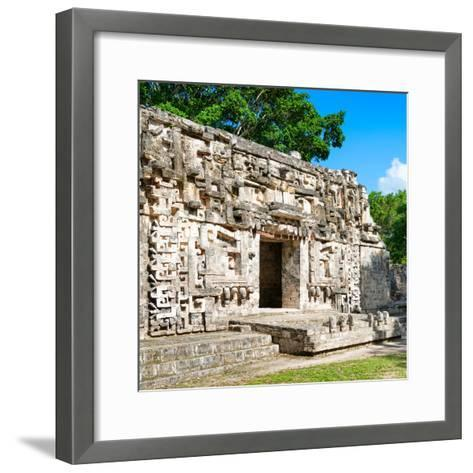 ¡Viva Mexico! Square Collection - Hochob Mayan Pyramids of Campeche IV-Philippe Hugonnard-Framed Art Print