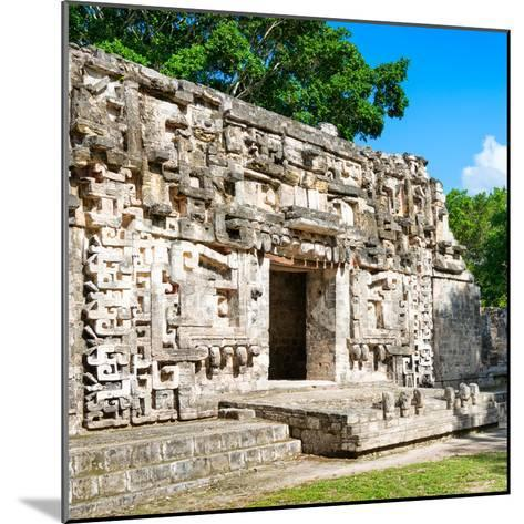 ¡Viva Mexico! Square Collection - Hochob Mayan Pyramids of Campeche IV-Philippe Hugonnard-Mounted Photographic Print