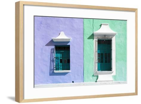 ¡Viva Mexico! Collection - Colors Houses in Campeche II-Philippe Hugonnard-Framed Art Print