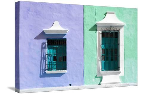 ¡Viva Mexico! Collection - Colors Houses in Campeche II-Philippe Hugonnard-Stretched Canvas Print