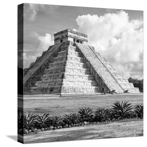 ¡Viva Mexico! Square Collection - El Castillo Pyramid in Chichen Itza VIII-Philippe Hugonnard-Stretched Canvas Print