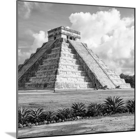 ¡Viva Mexico! Square Collection - El Castillo Pyramid in Chichen Itza VIII-Philippe Hugonnard-Mounted Photographic Print