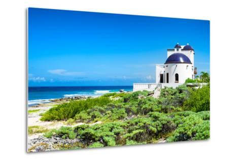 ¡Viva Mexico! Collection - White Home - Isla Mujeres Coastline-Philippe Hugonnard-Metal Print