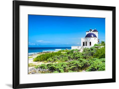 ¡Viva Mexico! Collection - White Home - Isla Mujeres Coastline-Philippe Hugonnard-Framed Art Print