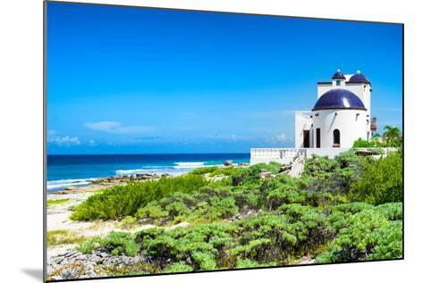 ¡Viva Mexico! Collection - White Home - Isla Mujeres Coastline-Philippe Hugonnard-Mounted Photographic Print