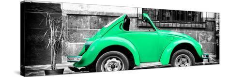 ¡Viva Mexico! Panoramic Collection - Small Green VW Beetle Car-Philippe Hugonnard-Stretched Canvas Print