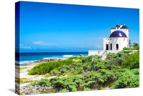 ¡Viva Mexico! Collection - White Home - Isla Mujeres Coastline-Philippe Hugonnard-Stretched Canvas Print