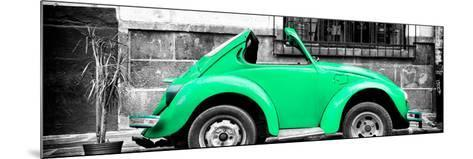¡Viva Mexico! Panoramic Collection - Small Green VW Beetle Car-Philippe Hugonnard-Mounted Photographic Print