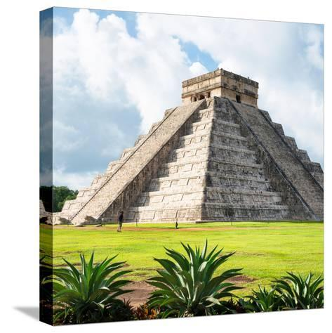 ¡Viva Mexico! Square Collection - El Castillo Pyramid - Chichen Itza III-Philippe Hugonnard-Stretched Canvas Print