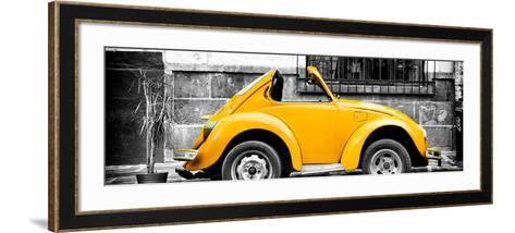 ¡Viva Mexico! Panoramic Collection - Small Gold VW Beetle Car-Philippe Hugonnard-Framed Art Print