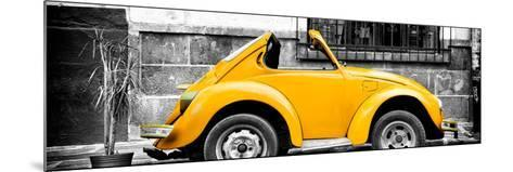 ¡Viva Mexico! Panoramic Collection - Small Gold VW Beetle Car-Philippe Hugonnard-Mounted Photographic Print