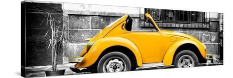 ¡Viva Mexico! Panoramic Collection - Small Gold VW Beetle Car-Philippe Hugonnard-Stretched Canvas Print