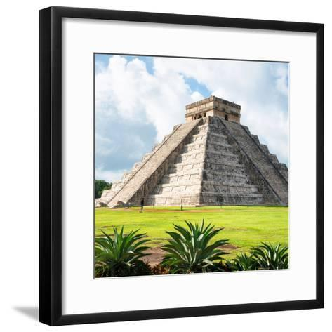 ¡Viva Mexico! Square Collection - El Castillo Pyramid - Chichen Itza III-Philippe Hugonnard-Framed Art Print