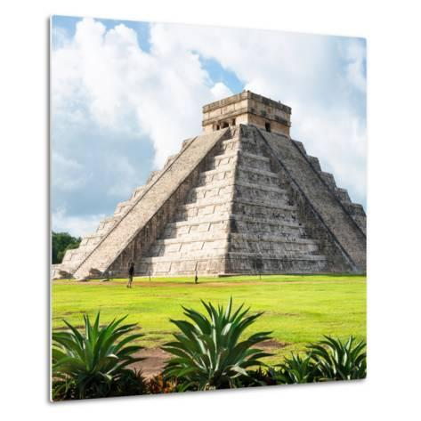 ¡Viva Mexico! Square Collection - El Castillo Pyramid - Chichen Itza III-Philippe Hugonnard-Metal Print