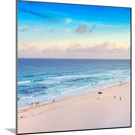 ¡Viva Mexico! Square Collection - Ocean View at Sunset in Cancun-Philippe Hugonnard-Mounted Photographic Print