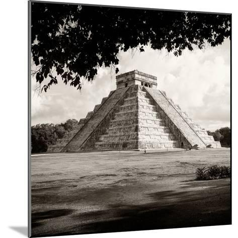 ¡Viva Mexico! Square Collection - El Castillo Pyramid - Chichen Itza-Philippe Hugonnard-Mounted Photographic Print