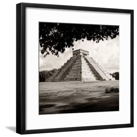 ¡Viva Mexico! Square Collection - El Castillo Pyramid - Chichen Itza-Philippe Hugonnard-Framed Art Print